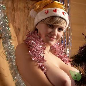 One lady wearing a fun costume