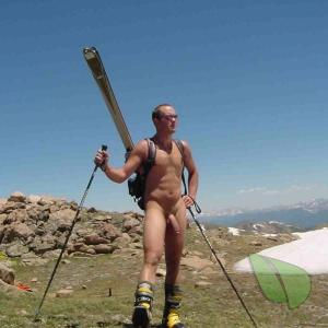 Solo man having fun outdoors