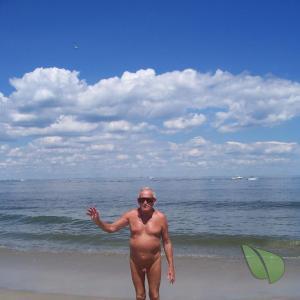 One nudist playing on the playa