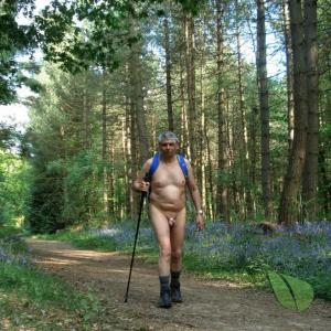 One man near the woods