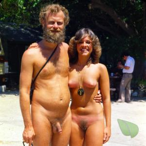 A naturist in the woods