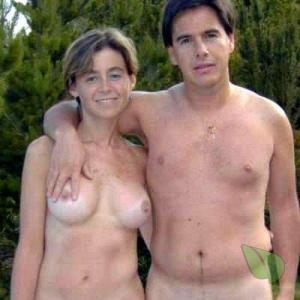 A nudist couple in the wilderness