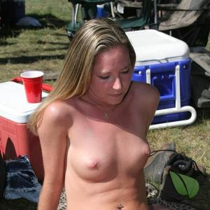 Solo female camping