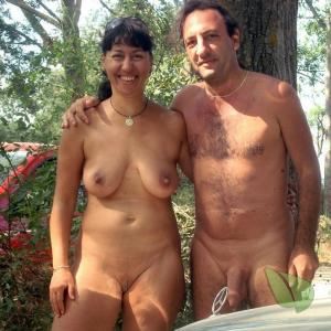 One nude person enjoying nature in the wilderness