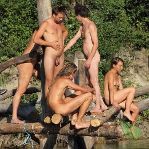 a group of naturist in nature