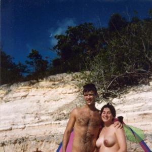 A nudist in nature