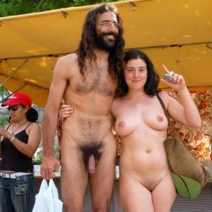 A nude person