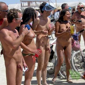 a group of naturists outdoors