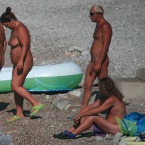 a couple nudist outdoors