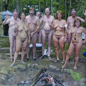 a bunch of nudey in nature