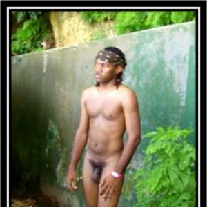 One nudist in nature