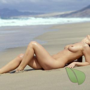 A girl in the sand