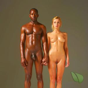 Solo nude person