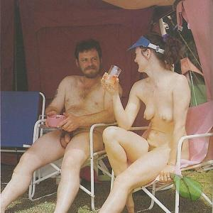 One nudist camping
