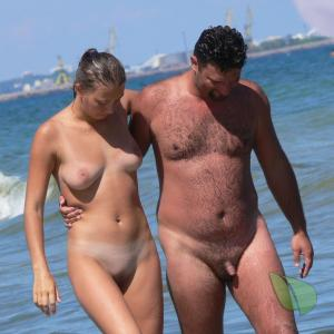 Solo naturist enjoying the sun