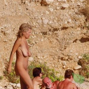 a group of co-ed nudists out and about
