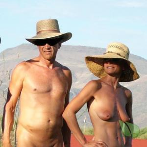 A nudists in the wilderness