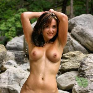 Solo woman in the woods