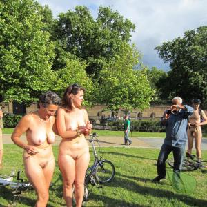 a group of naturists in nature