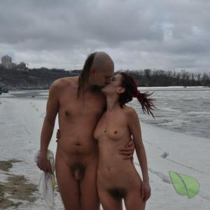 A nude friends in the wilderness