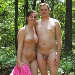 One nudey in the forest