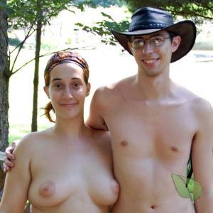 Solo naturist in a costume