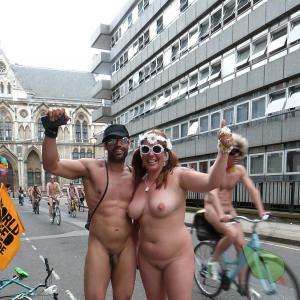 a group of nudists staying fit