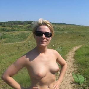 A lady out hiking in nature