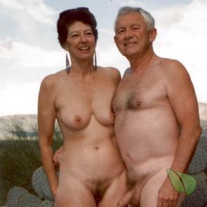 A naturist outdoors