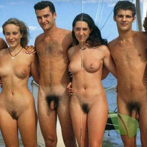 a crowd of naturist