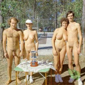 One nude friends winning in the wilderness