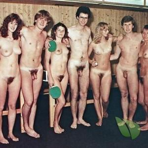 a crowd of nude person winning