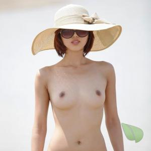 Solo female in a costume in nature