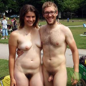 One naturist getting competitive outside