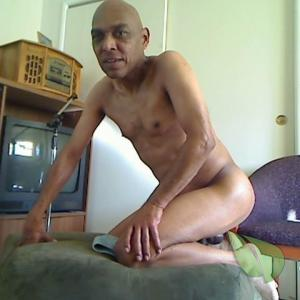 Solo male relaxing at home
