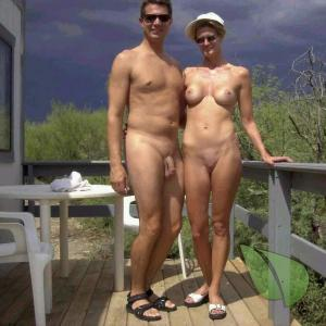 A nudists camping