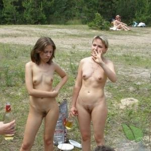 a group of naturist at the campground