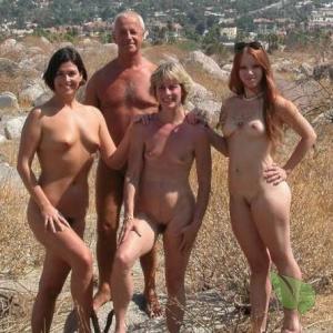 a group of naturist enjoying nature outside