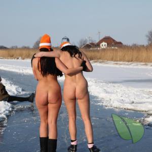 A nudists outside