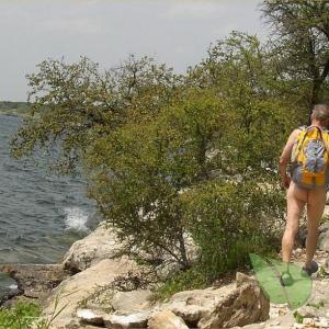 A man on a trail
