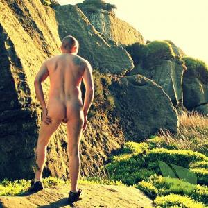 Solo man outdoors