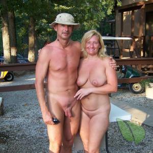 Solo nudist in nature