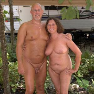 Solo nude couple camping