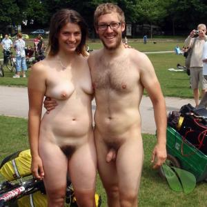 One nude friends in the wilderness