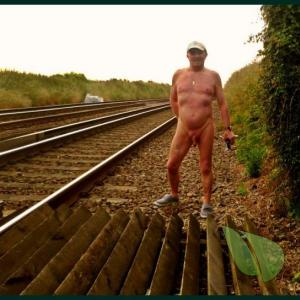 A nudist outside