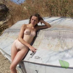 A female in nature