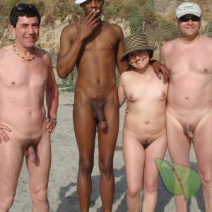 a bunch of nudey camping