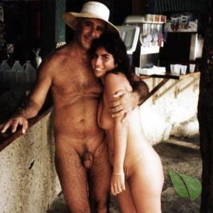 Solo nudey outside