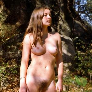 Solo nudists in the woods