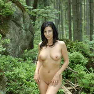 Solo girl in the wilderness